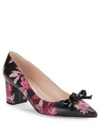 Kate Spade New York Madelaine Floral Print Leather Pointed Toe High Heels