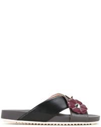 Fendi Floral Patch Sandals
