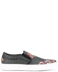 Christian Dior Dior Homme Floral Slip On Sneakers