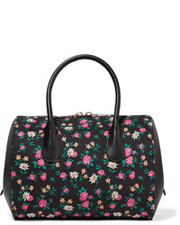 Nina Ricci Extra Small Floral Print Canvas And Leather Tote