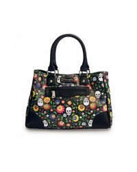 Loungefly Floral Skull Tote