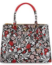 Medium debossed floral paradigm tote bag medium 3663992