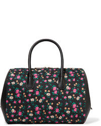Nina Ricci Small Floral Print Canvas And Leather Tote