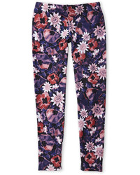 Jessica Simpson Black Floral Print Leggings