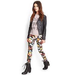 Forever 21 Floral Print Leggings