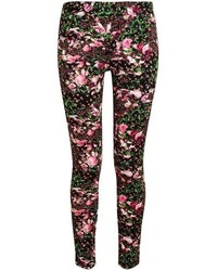 Floral printed leggings medium 100159
