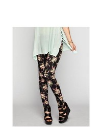 Full tilt floral print ponte leggings medium 246292