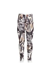 Miss Fit Jeans Black Floral Bold Print Leggings Girls 8
