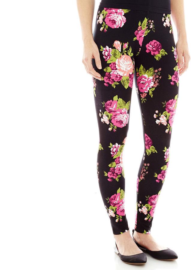 33f335b0c9e0c jcpenney Mixit Mixit Floral Print Knit Leggings, $26 | jcpenney ...