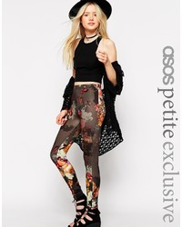 Asos Petite Leggings In Floral Print