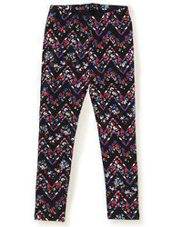 Ps From Ropostale Ropostale Kids Ps Girls Floral Zigzag Yoga Leggings Black