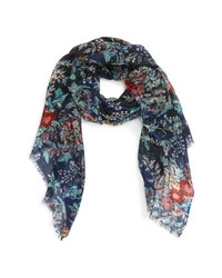 Sole Society Botanical Floral Wool Scarf