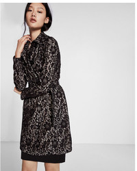 Express Floral Lace Trench Coat