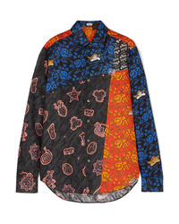 Loewe Paulas Ibiza Patchwork Printed Linen Shirt
