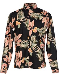 Black Floral Long Sleeve Shirt