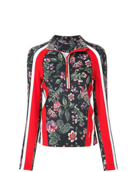 Marc Cain Floral Zip Collar Blouse