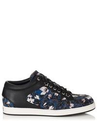 Jimmy choo miami english floral print fabric trainers medium 129566