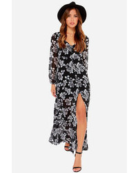 Black Floral Maxi Dress