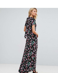 Asos Tall Asos Tall Maxi Dress With Deconstructed Back In Floral Print
