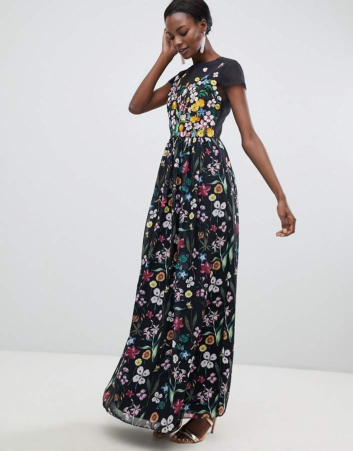 39fd8c4e351adc ... Ted Baker Embroidered Floral Mariz Maxi Dress ...
