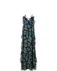 MSGM Floral Print Ruffled Dress