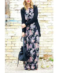 5e9cd3a6c9 ... LuLu s Lulus Length Of Love Floral Print Black Maxi Dress
