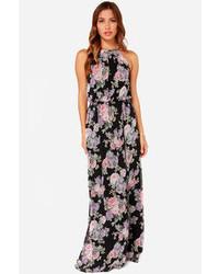 Women s Black Floral Maxi Dresses by LuLu s   Women s Fashion 1fa48d8537