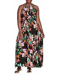 City Chic Molokai Floral Maxi Dress