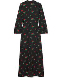 BERNADETTE Open Back Floral Print Maxi Dress