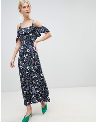 Vero Moda Ruffle Printed Maxi Dress
