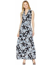 Vince Camuto Woodblock Floral Halter Maxi Dress Dress