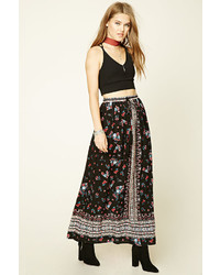 d2fcc1aed Women's Black Floral Maxi Skirts by Forever 21   Women's Fashion ...