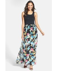 Nordstrom Felicity Coco Knit Bodice Floral Maxi Dress