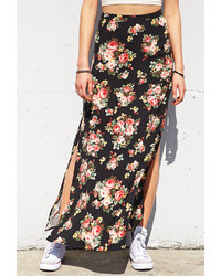Forever 21 Flower Patch Slit Maxi Skirt | Where to buy & how to wear