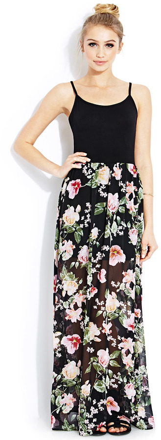 Forever 21 Floral Splash Maxi Dress | Where to buy & how to wear