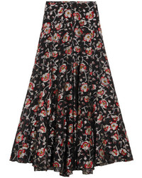 Peace metallic floral jacquard maxi skirt black medium 3754013