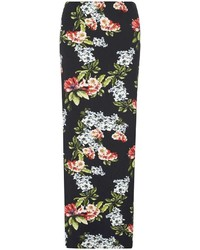 Tall black floral maxi skirt medium 4267790