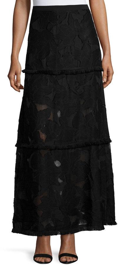 231dd4b26e91 Women's Fashion › Skirts › Maxi Skirts › Bergdorf Goodman › Elie Tahari ›  Black Floral Maxi Skirts Elie Tahari Tayla Floral Fil Coupe Maxi Skirt ...