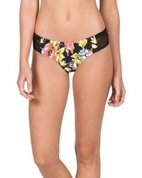 Volcom Wild Buds Floral Print Cheeky Bikini Bottoms
