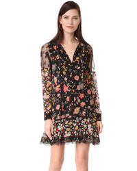 RED Valentino Long Sleeve Floral Dress