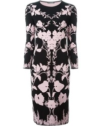 Alexander McQueen Floral Knit Midi Dress