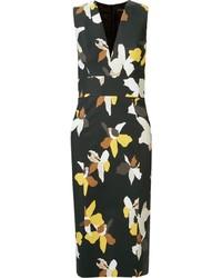 Andrea Marques Floral Midi Sheath Dress