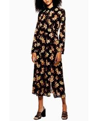 Topshop Autumn Floral Midi Dress