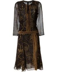 Barbara Bui Floral Paisley Print Midi Dress
