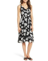 Floral blouson midi dress medium 3694642