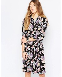 Only Floral Midi Shirt Dress