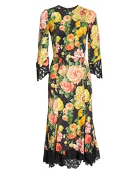 Dolce & Gabbana Floral Print Cady Dress