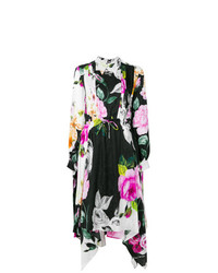 Off-White Floral Print Dress