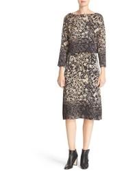 Floral print silk top slipdress medium 800324