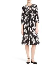 Kate Spade New York Posy Floral Silk Midi Dress